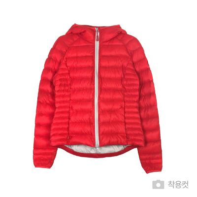 padding zip-up jumper red